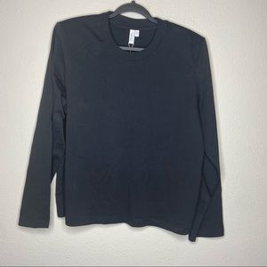 NWT & OTHER STORIES Black Crew Sweatshirt Large